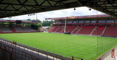 Das Stadion des 1. FC Union Berlin, Alte Försterei. Foto: picture alliance / dpa