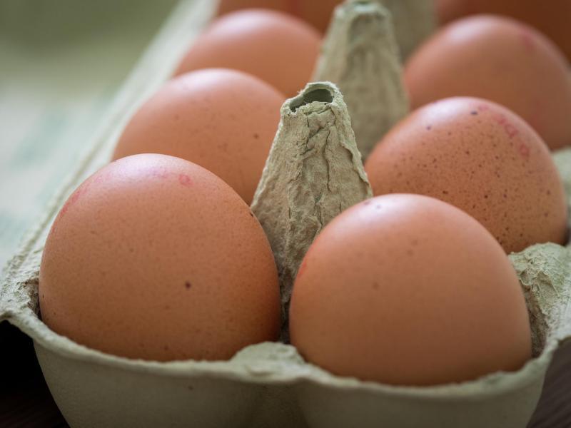 Nach dem Kauf sollten Eier direkt in den Kühlschrank - allerdings nicht in die Türfächer. Dort kann es Temperaturschwankungen geben. Foto: Christin Klose/dpa-tmn