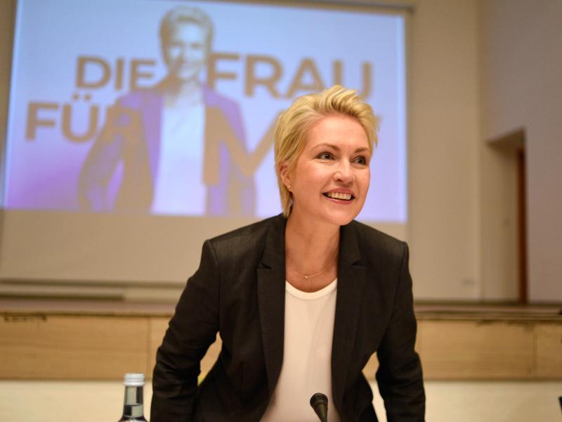 Manuela Schwesig kündigt Koalitionsverhandlungen mit der Partei Die Linke an. Foto: Frank Hormann/dpa