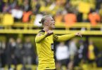 Er kam, sah und traf bei seinem Comeback gleich wieder doppelt: BVB-Stürmer Erling Haaland. Foto: Bernd Thissen/dpa