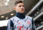 Ist vor dem Strafgericht in Madrid erscheinen: Bayern-Spieler Lucas Hernández. Foto: Tom Weller/dpa