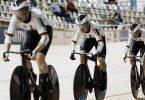 Sorgten für Gold in Roubaix: Lea Sophie Friedrich, Pauline Grabosch und Emma Hinze. Foto: Thibault Camus/AP/dpa
