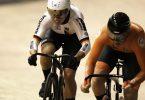 Sprintete in Roubaix erneut zu Gold: Emma Hinze (l). Foto: Thibault Camus/AP/dpa