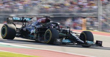 Lewis Hamilton im Freien Training vor dem Grand Prix der USA. Foto: Eric Gay/AP/dpa