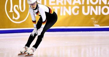 Anna Seidel hat beim Saison-Auftakt der Shorttracker in der Olympiastadt Peking das Finale über 1500 Meter verpasst. Foto: Adam Warzawa/PAP/dpa