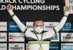 Holte dreimal Gold bei der Bahnrad-WM in Roubaix: Lea Sophie Friedrich. Foto: Thibault Camus/AP/dpa