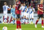 Bayer Leverkusen musste sich daheim Zweitligist Karlsruher SC geschlagen geben. Foto: David Inderlied/dpa