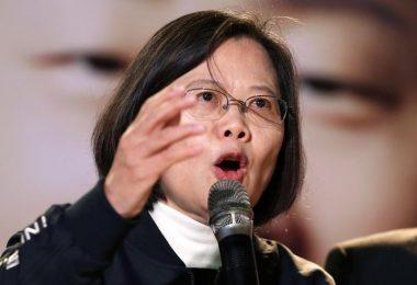 Taiwans Präsidentin Tsai Ing-wen sieht in China eine stetig wachsende Gefahr für ihr Land. Foto: Chiang Ying-Ying/AP/dpa